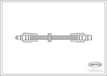 Шланг тормозной CORTECO 19020656