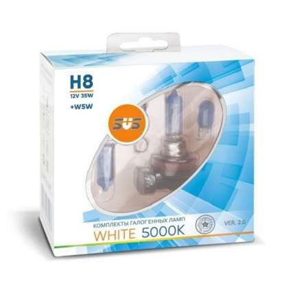 Комплект галогенных ламп SVS H8 55W 12V White 5000K Ver.2.0 + W5W White