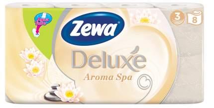 Туалетная бумага Zewa Deluxe АромаСпа, 3 слоя, 8 рулонов