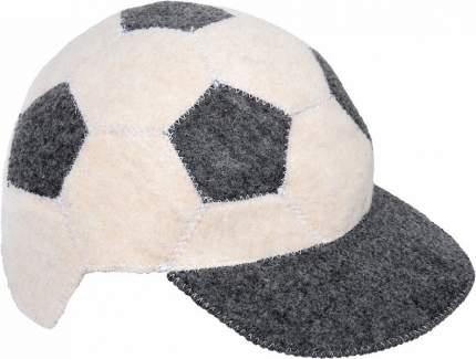 """Шапка банная Hot Pot """"Футбольный мяч"""", войлок, белый/серый, 41271"""