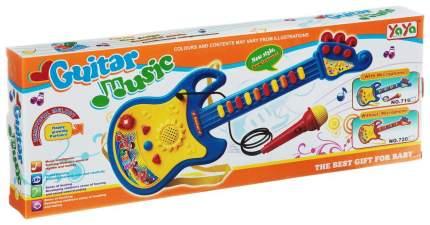 Электрогитара  игрушечная Shenzhen toys с микрофоном music guitar yoyo Б32718