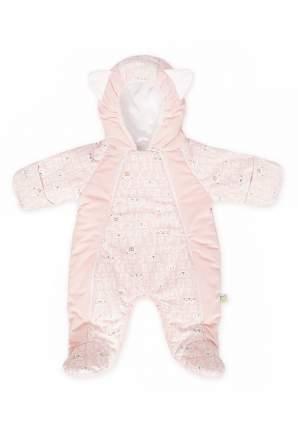 Комбинезон детский Сонный гномик с капюшоном Мармеладик розовый р.56