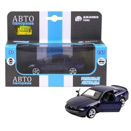 Машинка металлическая Автопанорама 1:43 Ford Mustang GT синий JB1200129