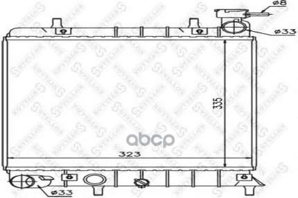 Радиатор системы охлаждения Stellox 1025168SX