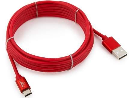 Кабель Cablexpert Type-C 3м Red