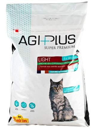 Сухой корм для кошек Babin Agi Plus light, при избыточном весе, утка, 2кг