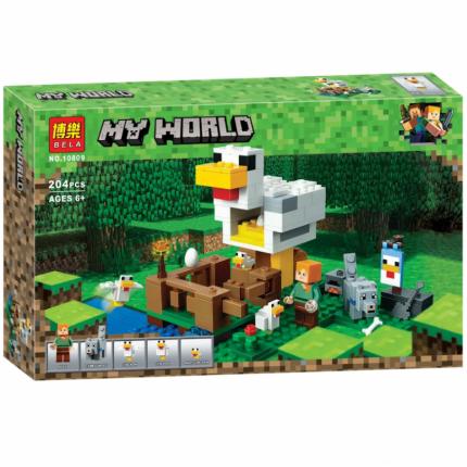 Конструктор пластиковый Minecraft BELA 10809 Курятник