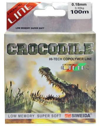 Леска Siweida Crocodile 100 м 0,18 3,3 кг прозрачная