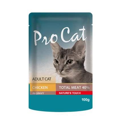Влажный корм для кошек Pro Cat курица 100г