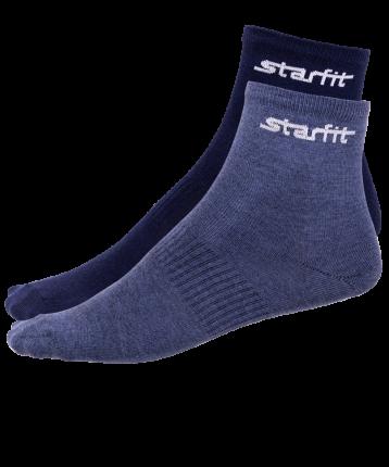 Носки StarFit SW-206, темно-синие/синий меланж, 35-38 EU