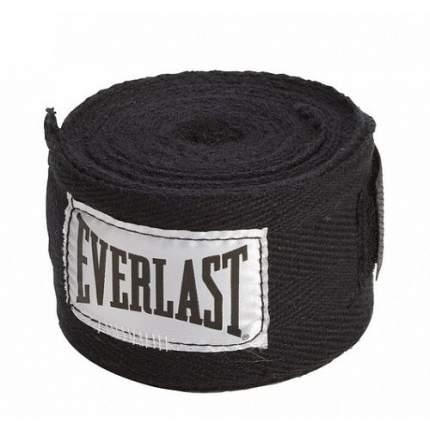 Бинт боксерский Everlast 4463BK, 2.5 м, эластик, черный