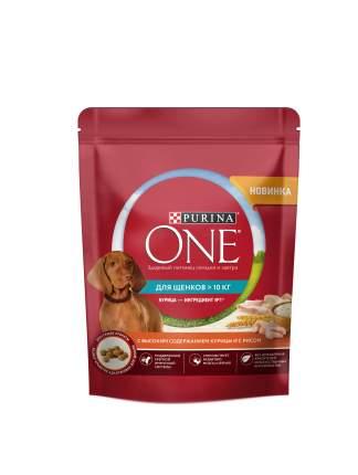 Сухой корм Purina ONE для щенков средних и крупных пород, с курицей и с рисом, 700 г