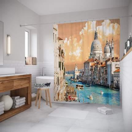 Штора для ванной JoyArty «Водные улицы» 180x200
