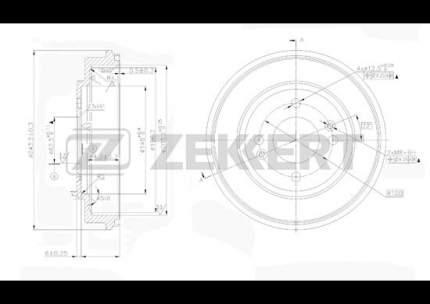 Тормозной барабан ZEKKERT BS-5215