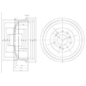 Тормозной барабан DELPHI BF153