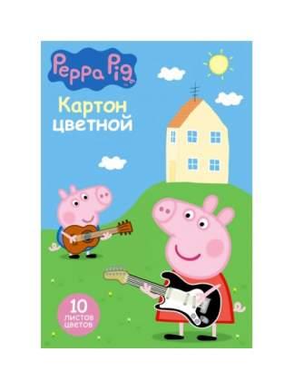 Набор цветного картона Росмэн Свинка Пеппа 34056