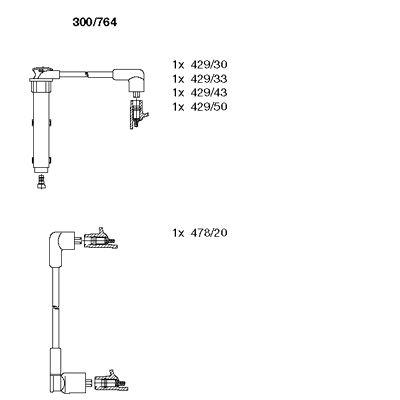 Комплект проводов зажигания BREMI 300/764