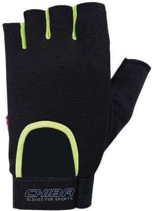 Перчатки для тяжелой атлетики и фитнеса Chiba Allround Line Fit, черные, XL