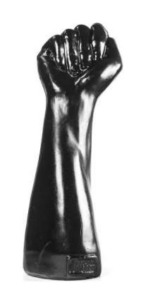 Стимулятор для фистинга Fist of Victory Black в виде руки с кулаком - 26 см