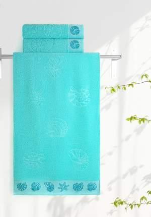 Полотенце универсальное Aquarelle Ракушки зеленый