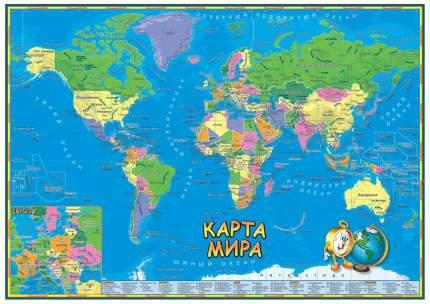 """Развивающий плакат """"Карта мира для детей"""" АГТ Геоцентр"""