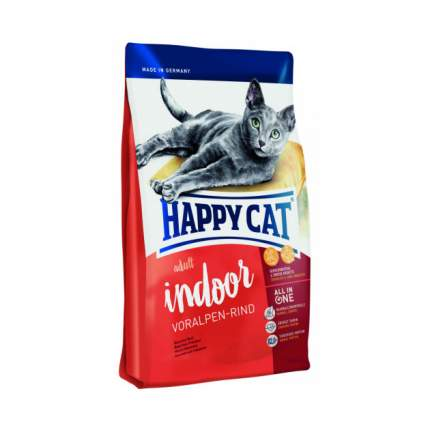 Сухой корм для кошек Happy Cat Fit & Well Indoor, для домашних, альпийская говядина, 1,4кг