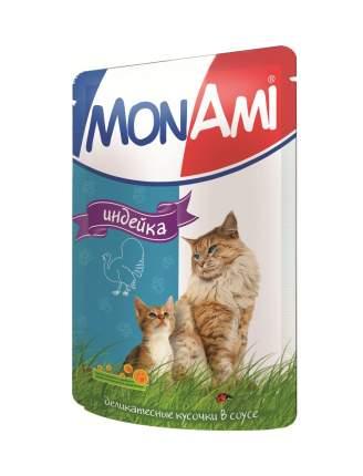 Влажный корм для кошек MonAmi, индейка, 100г