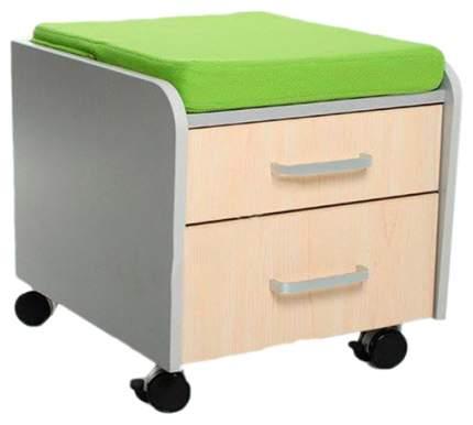 Тумбочка Comf-Pro BD-C2 зеленый, серый, беленый дуб