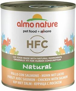 Консервы для кошек Almo Nature HFC Natural, курица, лосось, 280г