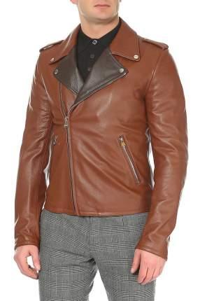 Куртка кожаная мужская DOLCE&GABBANA черная 50