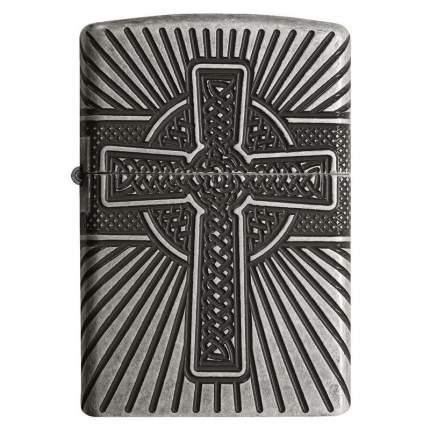 Зажигалка Zippo Armor Celtic Cross Design Antique Silver