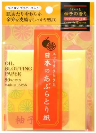 Матирующие салфетки ISHIHARA Oil Blotting Paper С ароматом юдзу 80 шт