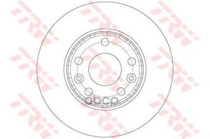 Тормозной диск TRW/Lucas DF6072