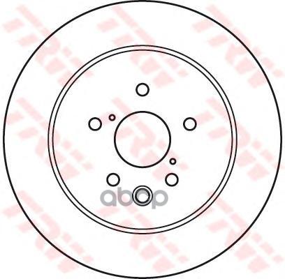 Тормозной диск TRW/Lucas DF6063 задний