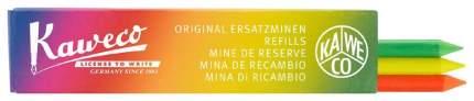 Грифели для карандашей Kaweco, текстовыделитель, оранжевый, жёлтый, зелёный, 5,6 мм 3 шт.