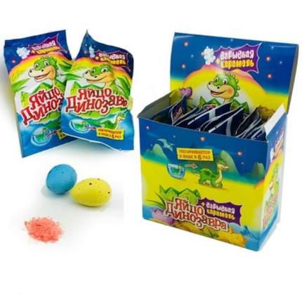Взрывная карамель Яйцо Динозавра с растущей игрушкой  24 шт