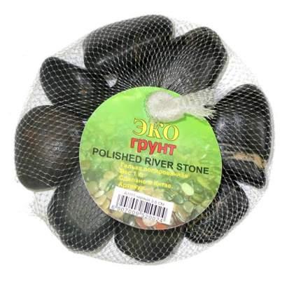 Грунт для аквариума ЭКОГРУНТ  Галька полированная черная 3 - 5 см  1кг