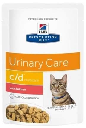 Влажный корм для кошек Hill's Prescription Diet c/d Urinary Care, лосось, 85г