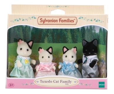 Игровой набор sylvanian families семья чёрно-белых котов