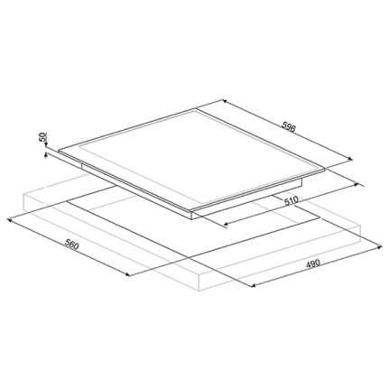 Встраиваемая варочная панель индукционная Smeg PI764AO Black