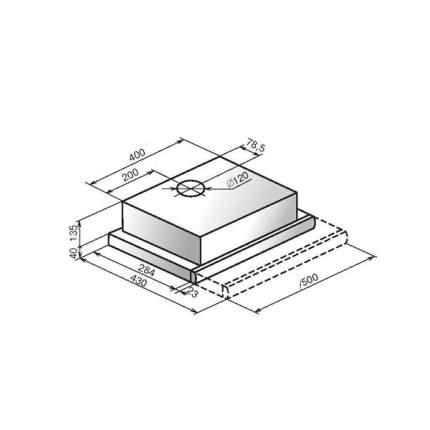 Вытяжка встраиваемая ELIKOR Интегра 50 Black/Silver