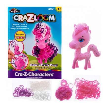 Crazy loom 19163 крейзи лум набор для творчества - фигурка пони + цветные резиночки