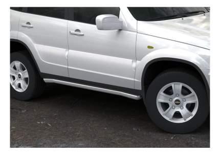 Защита порогов RIVAL для Chevrolet (R.1004.007)