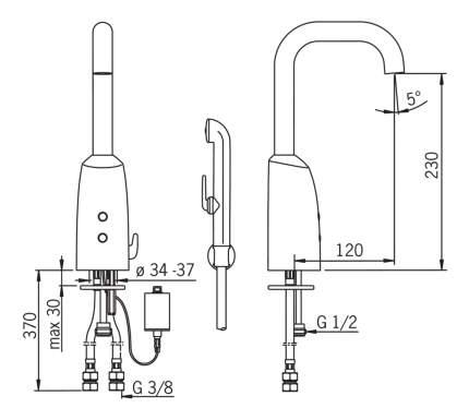 Смеситель с гигиеническим душем Oras Electra 6332F хром