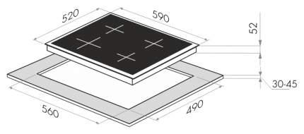 Встраиваемая варочная панель электрическая MAUNFELD EVCE.594.SM.D-BK Black