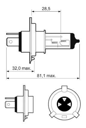 Лампа галогенная VALEO 60W P43t-38 32513