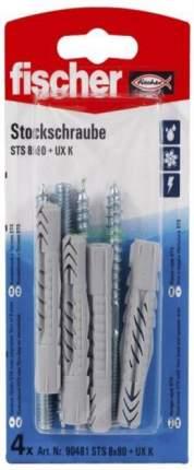 Шпилька сантехническая Fischer STST 8X80+дюбель универскальный UX K (4 шт) 90481