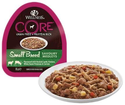 Консервы для собак Wellness CORE, баранина и оленина с сладким картофелем и морковью, 85г
