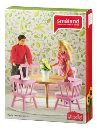 Смоланд Обеденный уголок розовый LB_60207900 для домиков Lundby