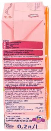 Морс Фрутоняня Малина черная и красная смородина с 5 мес 200 мл